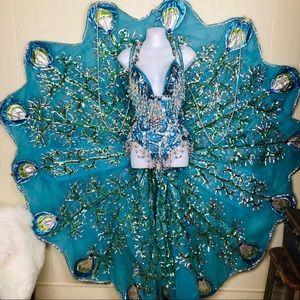 Authentic vintage Burlesque peacock costume